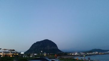 One of the big (volcanic) mountains in Jeju. I know the name of none of them except for Hallasan. And this is not it.