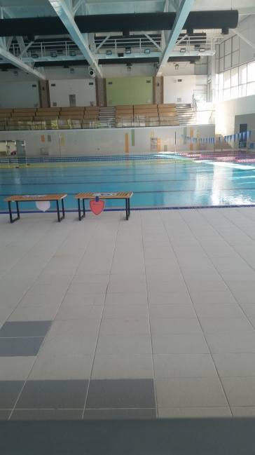This is our school's pool. I told you our campus is big.