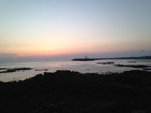 Sunsets from the Moseulpo Harbor. This is the bigger closer town to where we live - good for small grocery hauls, pharmacy trips, and Daiso (the dollar store equivalent).